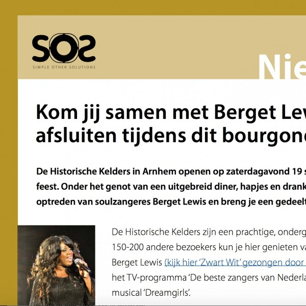 Digitale nieuwsbrief SOS Simple Other Solutions