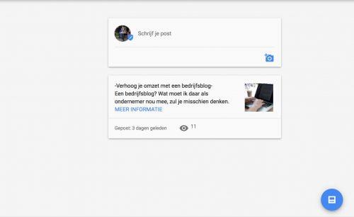 Google Posts plaatsen