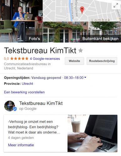 Google post plaatsen