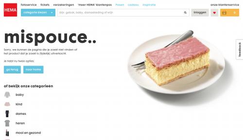 404-pagina maken HEMA voorbeeld