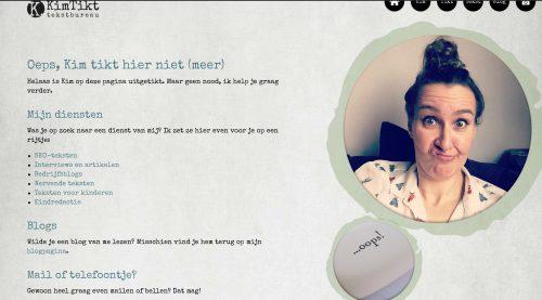 404-pagina maken (voorbeeld KimTikt)