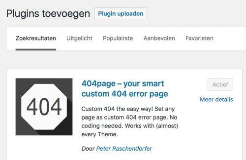 404-pagina maken plug-in