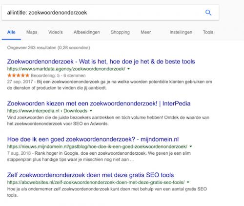 Zoekwoordenonderzoek _ concurrentie