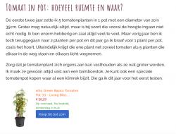 voorbeeld van geld verdienen met affiliate marketing in een blog over tomaten kweken